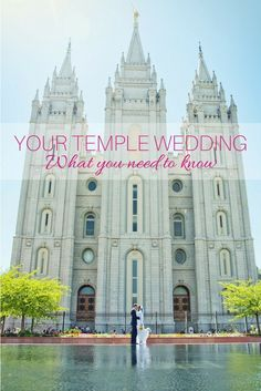 Don't forget these important parts of your LDS temple wedding. wedding checklist What You Need to Know for Your Temple Wedding Wedding Prep, Wedding Advice, Wedding Events, Themed Weddings, Mormon Temples, Lds Temples, Perfect Wedding, Dream Wedding, Wedding Day