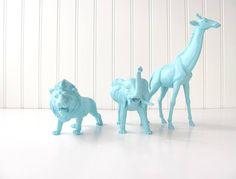 Painted Plastic Animal Toys
