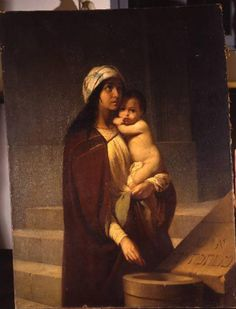 L'obolo della povera vedova, collezione privata, Raffaele Casnedi, pittore