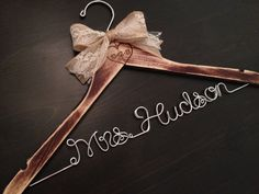 Rustic Bridal Hanger / Shabby Chic Brides Hanger / by GetHungUp, $38.00