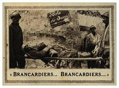 WW1, Battle of the Somme, 1916; Stretcher-bearers