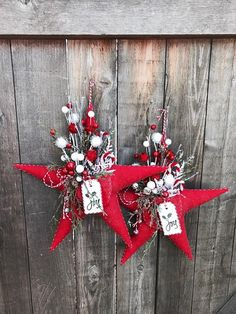 Items similar to Primitive Red Christmas Pocket Star on Etsy Merry Christmas Sign, Christmas Star, Country Christmas, All Things Christmas, Christmas Christmas, Christmas Ideas, Homemade Christmas Crafts, Christmas Projects, Xmas Ornaments