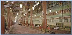 Inside Masjid Al- Aksa Al Masjid An Nabawi, Masjid Al Haram, Most Beautiful, Beautiful Places, Dome Of The Rock, Beautiful Mosques, Madina, Pinterest Photos, Architecture Portfolio