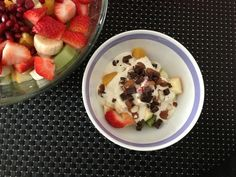 frk. sveske: ren nostalgi: frugtsalat med sukkerfri råcreme