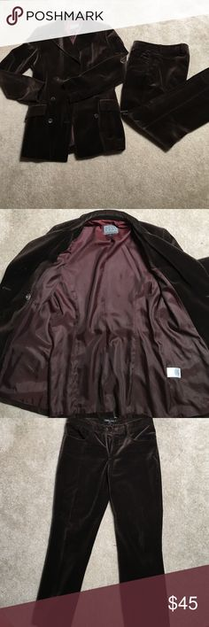 Guess suit (vintage) Velour material (jacket is a size 4 and pants are 8) Other