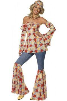 Vero Moda Very Vintage Hippy - Ladies Costume, Size M, Women
