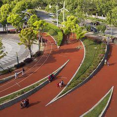 어반 퍼블릭 스페이스의 지향점은 지역주민들의 원활한 소셜활동 보장을 위한 열린공간 창출과 연속된 어반 스트럭쳐 구축에 있다. 상하이 장마오 운동공원의 디자인은 어반랜드스케이프 가이드 라인을 준수, 지속성장 가능한 도시환경 구축이라는 대전제를 기본 원칙으로 조경, 광장, 보행자로가 생태학적 시스템을 이룬다. 이것은 단순히 지역주민들의 기본적인 요구만 수용했던 이전 장소와는 달리 확장, 발전한 도시공원으..