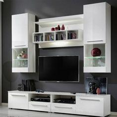 exclu atyliacom meuble tv design led blanc glossy - Meuble Tv Blanc Glossy
