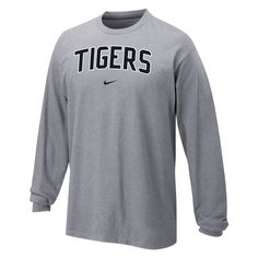Nike, Cotton Long Sleeve, Tigers,
