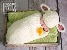 Baby Lamb Sheep Hat and Cocoon Set Crochet Pattern by IraRott