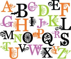 free halloween fonts and clip art