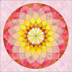 Uncomplicate the complicated!  Small Dahlia Paper Piece Foundation Quilting by QuiltingSupport, $3.50