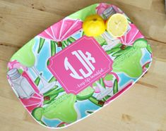 Personalized  Platter Coastal Customized Melamine by TinTreeGifts