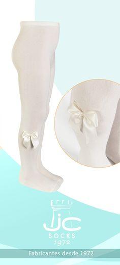 Leotardo niña con lazo en los laterales. JC Castellà fabricantes leotardos y calcetines desde 1972