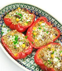 Quinoa Stuffed Red Peppers #recipe