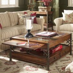 Riverside Medley Square Coffee Table with Drawers - 45006 - Riverside Furniture Coffee Table With Drawers, Cool Coffee Tables, Coffe Table, Furniture Sale, Living Room Furniture, Living Room Decor, Furniture Ideas, Living Rooms, Lodge Furniture