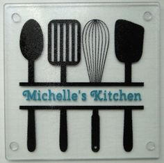 Personalized square glass cutting board trivet by StrongsSparkles, $11.50