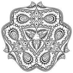 mandala tatoo: tatouage au henné mandala. le style Mehndi.