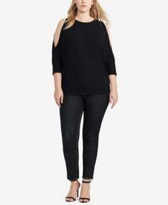 Lauren Ralph Lauren Plus Size Dolman-Sleeve Top -