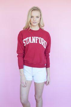 90's Retro Cranberry Stanford Sweatshirt -SZ- XS, S. $48.00, via Etsy. Perfect