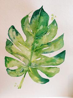Easy Watercolor, Watercolor Print, Watercolor Illustration, Watercolor Flowers, Watercolour Painting, Painting & Drawing, Watercolors, Inspiration Artistique, Cool Wall Art