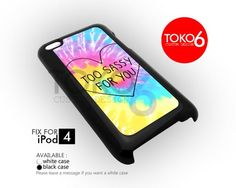 AJ 4123 Too Sassy For You Tie Dye - iPod 4 Case | toko6 - Accessories on ArtFire