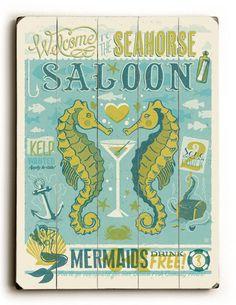 Seahorse Saloon Sign: Custom Vintage Signs