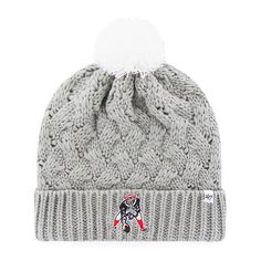 4601a7a1b3c New England Patriots Women s 47 Brand Classic Gray Fiona Cuff Knit Hat  Detroit Game