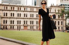 SACHA DRAKE Ultimate Black Dress - Cap Sleeve