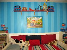 Thomas The Train Inspired...love The Stripes. Train Bedroom DecorRoom Ideas:  ...