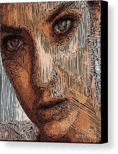 Studio Portrait In Pencil  Canvas Print / Canvas Art by Rafael Salazar