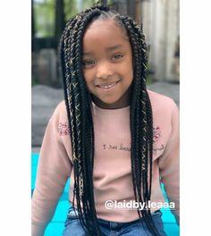Braids for Kids - 100 Back to School Braided Hairstyles for Kids in 2020 Box Braids Hairstyles For Black Women, Natural Hairstyles For Kids, Baby Girl Hairstyles, Kids Braided Hairstyles, Little Girl Box Braids, Kids Box Braids, Girls Braids, Kid Braids, Tree Braids