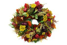 Bountiful Wreath, Dried - From the Garden - Brands Fall Flowers, Dried Flowers, Wreaths And Garlands, Decorative Items, Decorative Accents, Natural, Accent Decor, Floral Arrangements, Fall Decor
