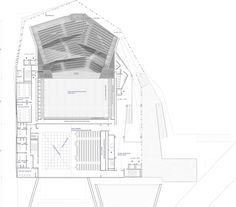 Kengo Kuma & Associates · Albi Grand Theatre · Divisare Kengo Kuma, Concert Hall, Opera House, Floor Plans, How To Plan, Projects, Theatres, Houses, Drawings