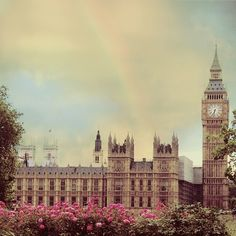 he tower was constructed between 1843 and 1858 as the clock tower of the Palace of Westminster. The palace is now better known as the Houses of Parliament.  The clock tower rises 316ft high (96m) and consists of a 200ft (61m) high brick shaft topped by a cast iron framed spire. The clock faces are 180ft / 55m above ground level.
