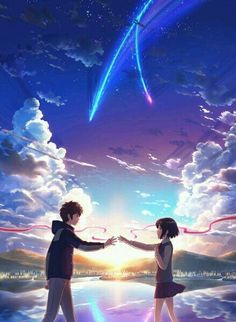 Japan Anime Your Name (Kimi No Na Wa) Poster Wall Scroll Painting Hanging Film Manga, Manga Anime, Fille Blonde Anime, Watch Your Name, Mitsuha And Taki, Kimi No Na Wa Wallpaper, Otaku, The Garden Of Words, Your Name Anime
