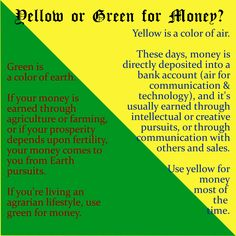 Which color do you use for money magick? #wicca #magick #prosperity