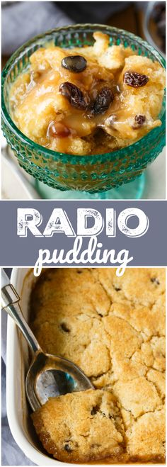 Radio Pudding - A simple vintage recipe that has been passed down from generation to generation. The cake base bakes right in a luscious butterscotch sauce.