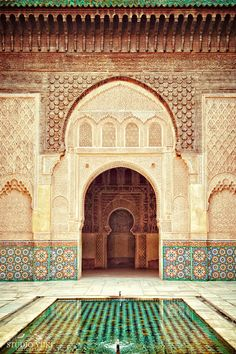 Morocco Travel Photograph, Fine Art Print, Ethnic Photo, Moroccan Mosaic Tiles, Islamic Art, Marrakesh, Large Wall Decor, Emerald, Zen by Studio Yuki