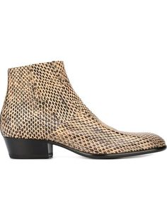 MAISON MARGIELA Snakeskin Effect Ankle Boots. #maisonmargiela #shoes #boots