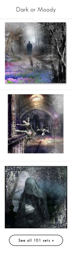 """""""Dark or Moody"""" by hollyjo ❤ liked on Polyvore featuring art, van gogh, starry night, contest, masters, rain, surreal, naoto hattori, darkness and metal music"""