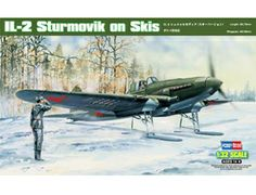 The Hobby Boss Ilyushin Il-2 Sturmovik on Skis in 1/32 scale from the plastic aircraft model range accurately recreates the real life Russian attack aircraft flown during World War II. This plastic aircraft kit requires paint and glue to complete.