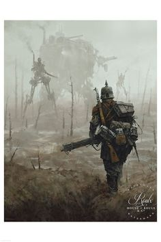 """1920 - No Man's Land • Illustrated by Jakub """"Mr. Werewolf"""" Rozalski • Archival pigment print • Printed on Hahnemühle Fine Art Baryta 325 GSM fiber paper • Varying sizes available Open edition House of"""