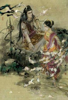 Shiva Parvati Images, Mahakal Shiva, Lord Krishna Images, Shiva Art, Hindu Art, Goddess Art, Durga Goddess, Orisha, Lord Shiva Sketch