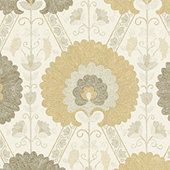 Breakfast room curtain panels? Tamerlane Taupe Fabric by the Yard