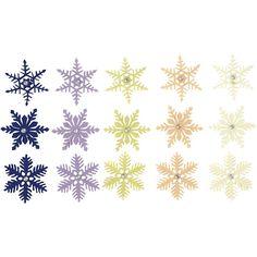 Pehmeitä pieniä/pienehköjä lumihiutaleita askarteluun ja käsitöihin