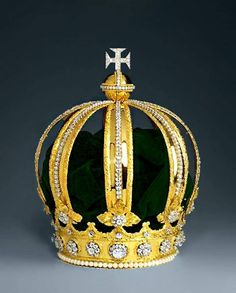 The Imperial Crown of Brazil, also known as the Crown of Dom Pedro II  Made for the coronation of Dom Pedro II as the Emperor and Perpetual Defender of Brazil in 1841.