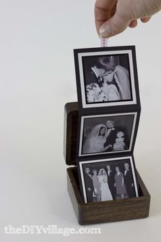 What a cool wedding/anniversary gift idea! Pop Up Photo Box - theDIYvillage.com
