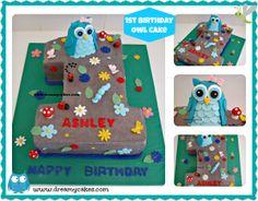 dreamycakes.com owl number 1 cake
