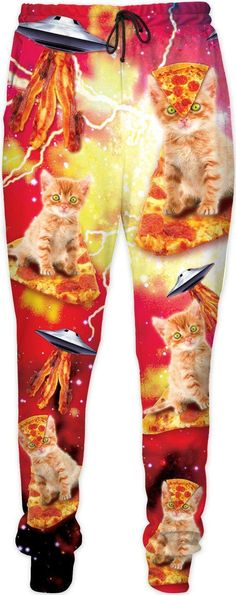 bb27d7cf84dbb0 Bacon Pizza Space Cats Joggers
